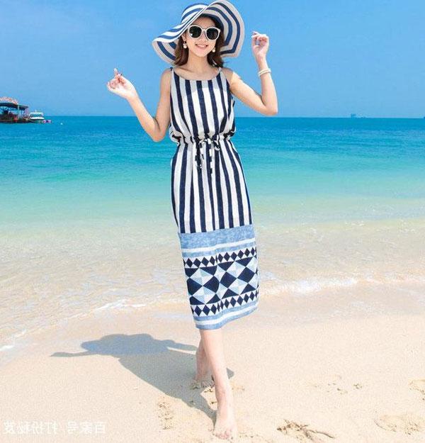 váy liền quần đi biển
