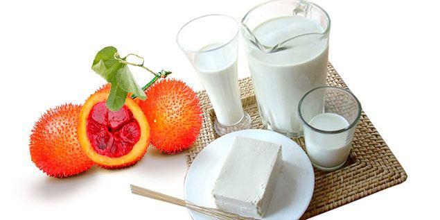 Trị Mụn Gấc Và Sữa Chua Không Đường