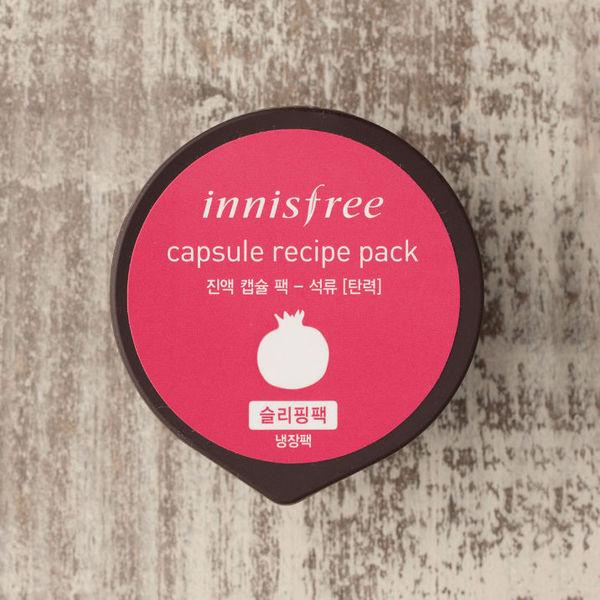 Mặt nạ ngủ Lựu Innisfree Capsule Recipe Pack - Pomegranate