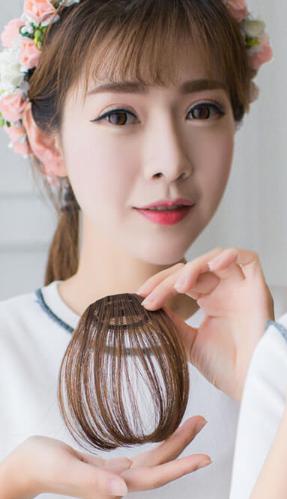 (tóc mái ngố đáng yêu, cá tính)