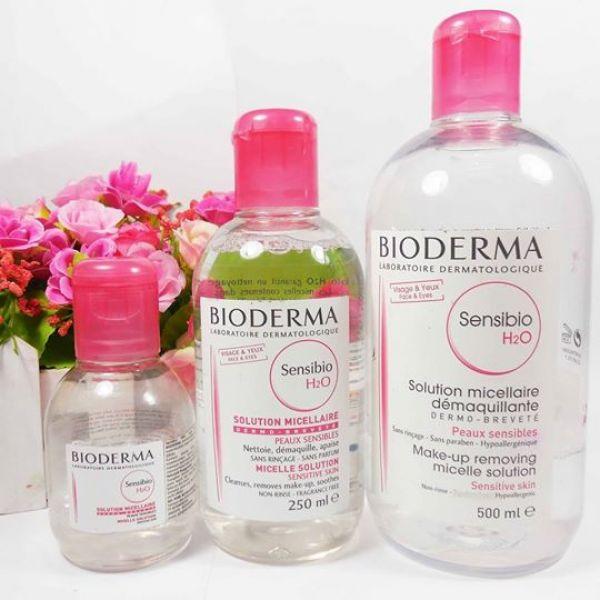 tẩy trang bioderma hồng