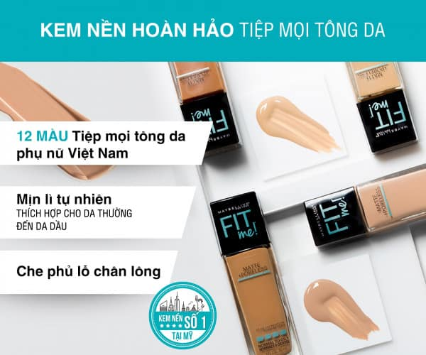 kem nền maybelline fit me review