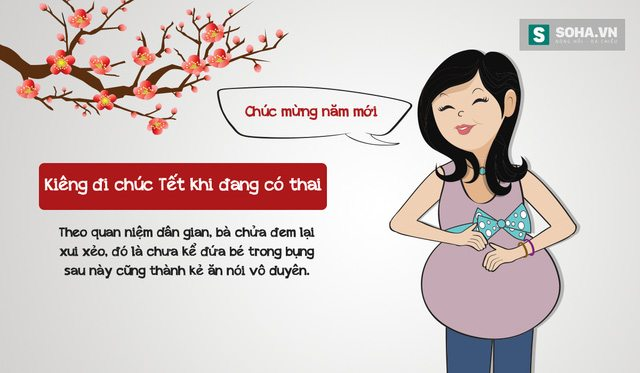 Kiêng đi chúc Tết khi đang có bầu