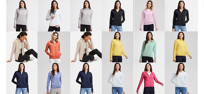 Áo chống nắng Uniqlo có nhiều màu sắc khác nhau, bạn có thể thoải mái lựa chọn