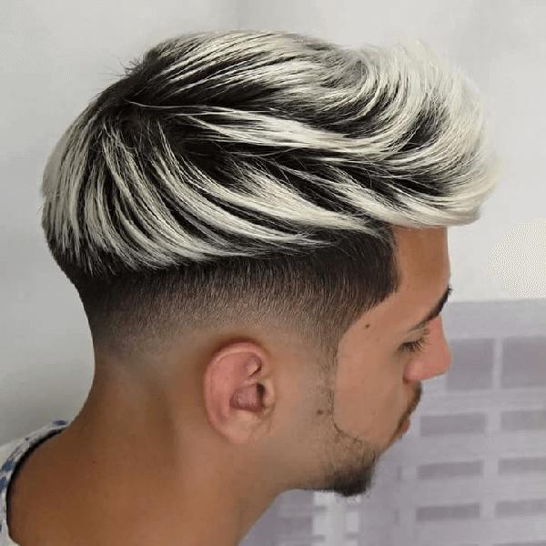 kiểu tóc bạch kim nam
