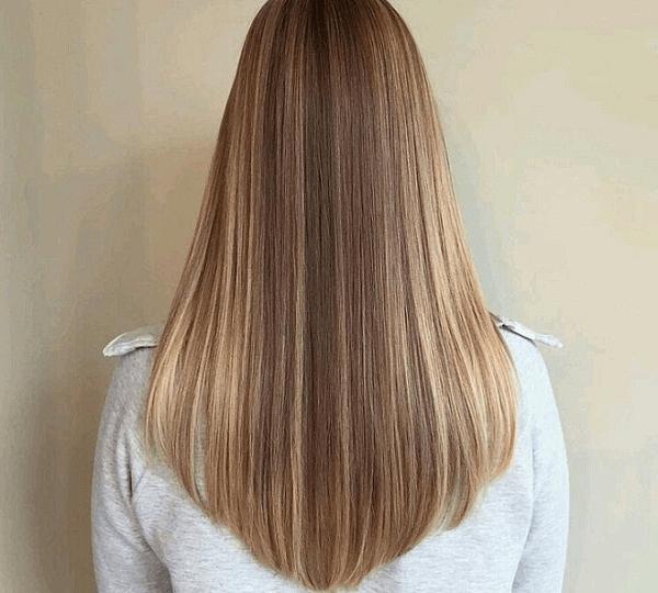 tóc ngang lưng